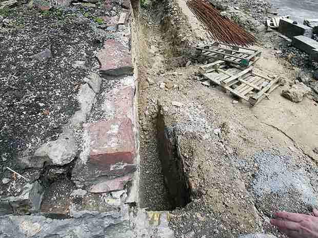 В центре Киева обнаружили фрагмент древнего дворца князя Владимира