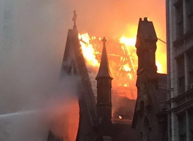 В Нью-Йорке сгорел старейший православный храм