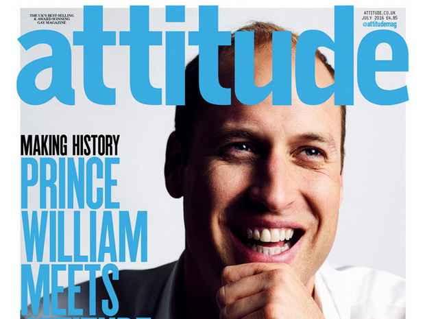 Британский принц Уильям снялся для обложки гей-журнала