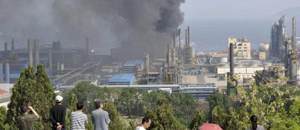 Пожар на китайской фабрике