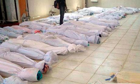 Тела жертв резни в Хула