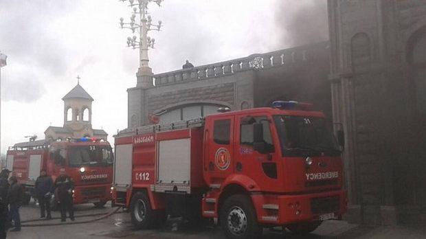 В Тбилиси горела главная святыня